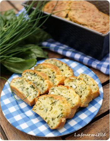 cake herbes aromatiques et feta