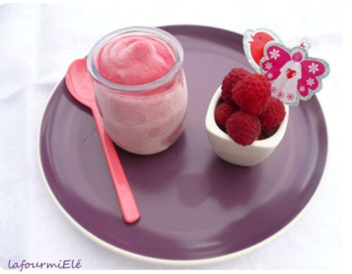 frozen yogurt framboise