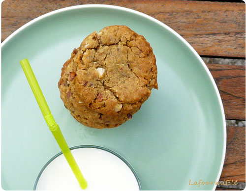 cookies chocolat caramel noisettes