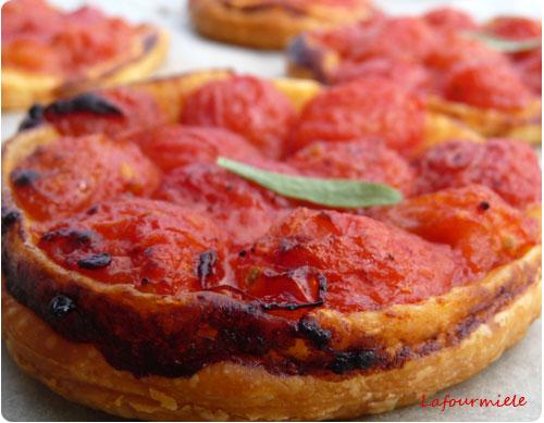 Tarte fine aux tomates cerises
