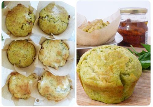 muffin-pesto-tomate-séchée