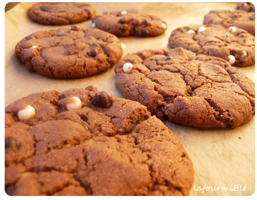 cookies tout chocolat et pépites croustillantes