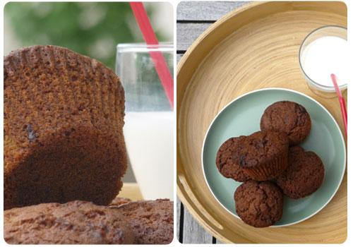 muffin rapadura et chocolat