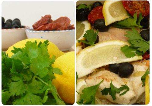 poulet citron et herbes