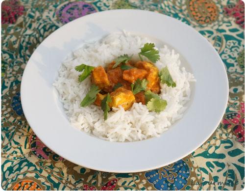 Poulet au curry doux patak's