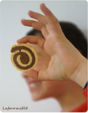 sablé hynotique spirale vanille chocolat