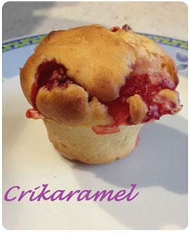 11-Mini muffins allégés aux fraises par Crikaramel