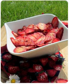 Chips de fraises