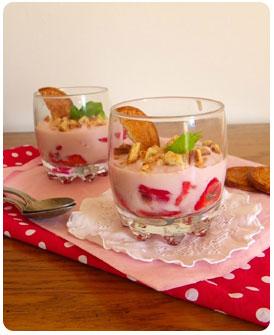 Trifle aux fraises sables bretons