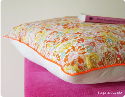 coussin tissus liberty