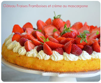 25-Gâteau fraises framboises à la crème de mascarpone