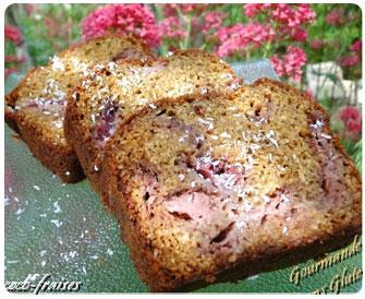 31- cake fraise coco  sans gluten