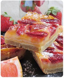 33-Carré à la fraise et pamplemouss