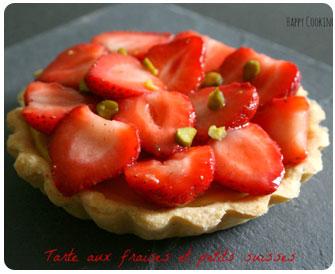 50- Tarte aux fraises et aux petits suisses