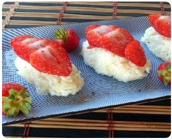 53- Sushis aux fraises