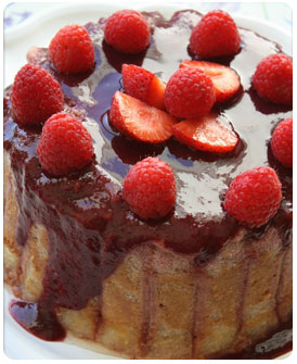 54-Charlotte aux fraises framboise au fromage blanc et mascarpone