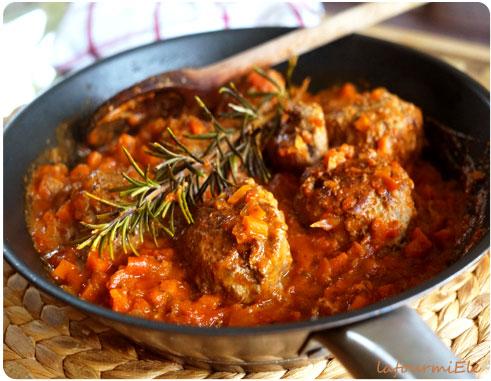 boulette steak haché tomate carotte romarin
