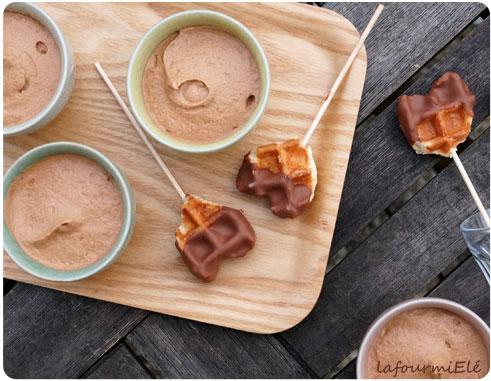 mousse chocolat jivara gaufre