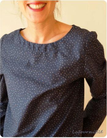 blouse atelier brunette midnight blue