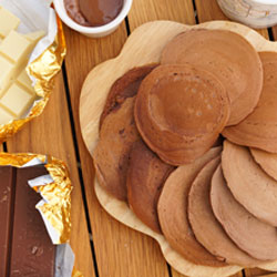 mardi gras pancakes au chocolatt