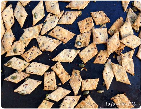 petits biscuits géométriques aux graines et épeautre