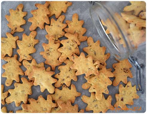 biscuits au sirop d'érable et noix de pécan