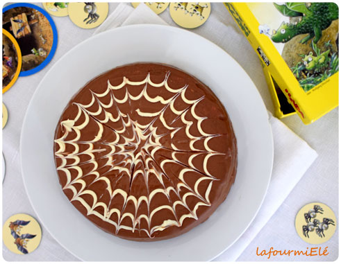 gateau chocolat toile d'araignée