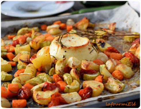 légumes rôtis à la ricotta