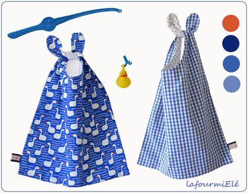 sélection serviettes bleues