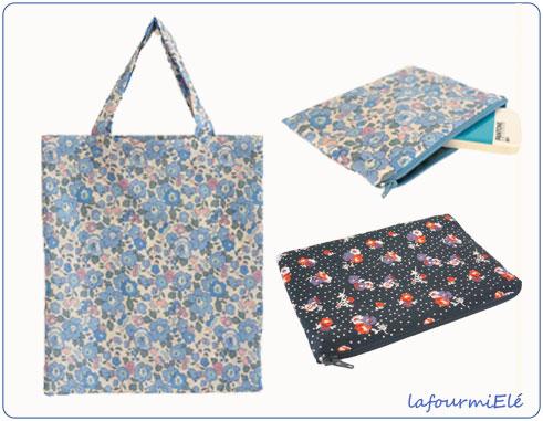 mini tote bag et pochettes