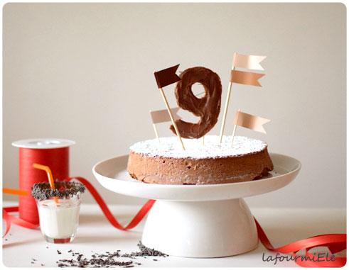 gâteau au chocolat moelleux anniversaire