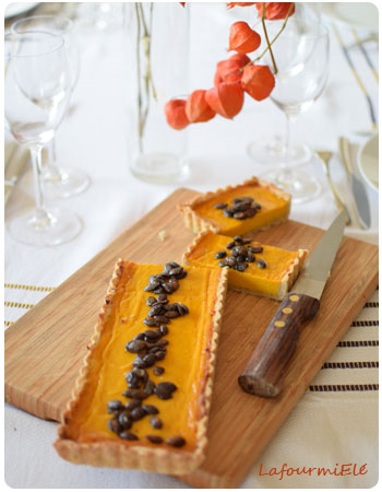 tarte au potimarron - pumpkin pie
