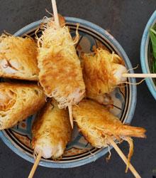 Crevette marinées croustillantes