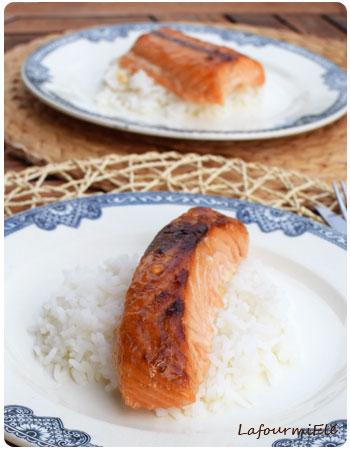saumon mariné rôti
