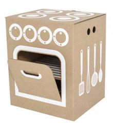 shopping - cuisinière en carton