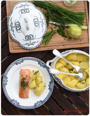 saumon au beurre de citron