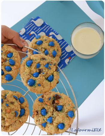 tendres cookies bleus