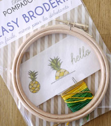 carnet de shopping #3 - kit broderie ananas
