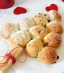 Des recettes pour les fêtes - sapin brioché