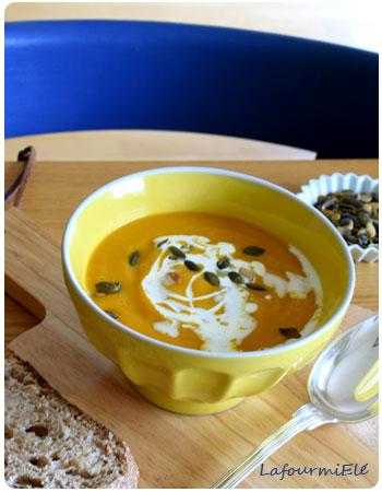 Soupe de carottes et lentilles corail
