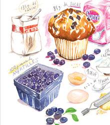 carnet de shopping #5 recette myrtille bleue