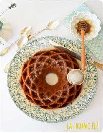 cake moelleux miel noisettes