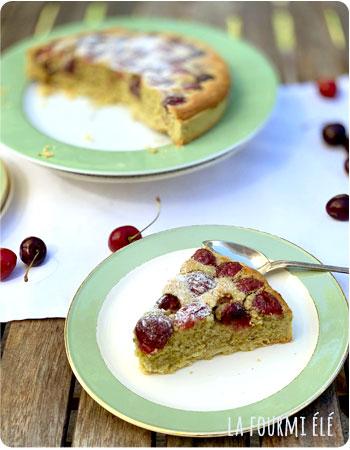 Tarte muffin cerise et pistache