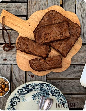 brownie au chocolat et noisettes caramélisées Cyril Lignac